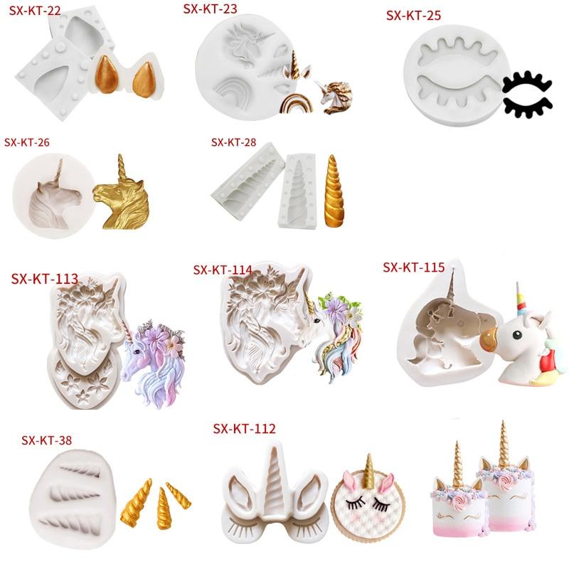 10 Styles Of New Unicorn Shape Cake Molds Fondant Silicone Mould DIY Baking Decoration Tools Cupcake Mold Pastry Model Tools