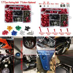 177PCS/Set Motorcycle Fairing Bolts Kit Bodywork Screws Nut For Honda CBR600RR CBR900RR CBR1000RR Motorcycle Accessories