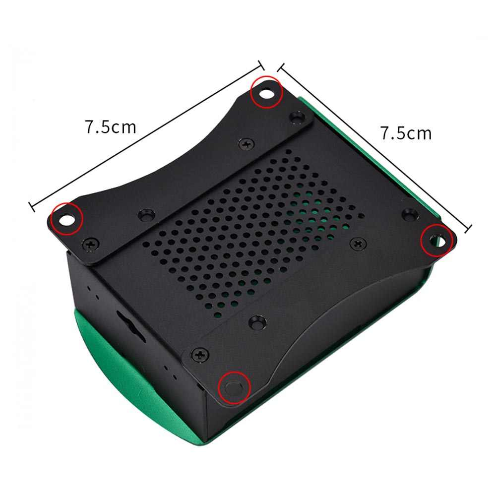 New! Raspberry Pi 4B Aluminum Case Metal Enclosure With heatsink +fan for Raspberry pi 4 Model B Compatible with Raspberry Pi 4B