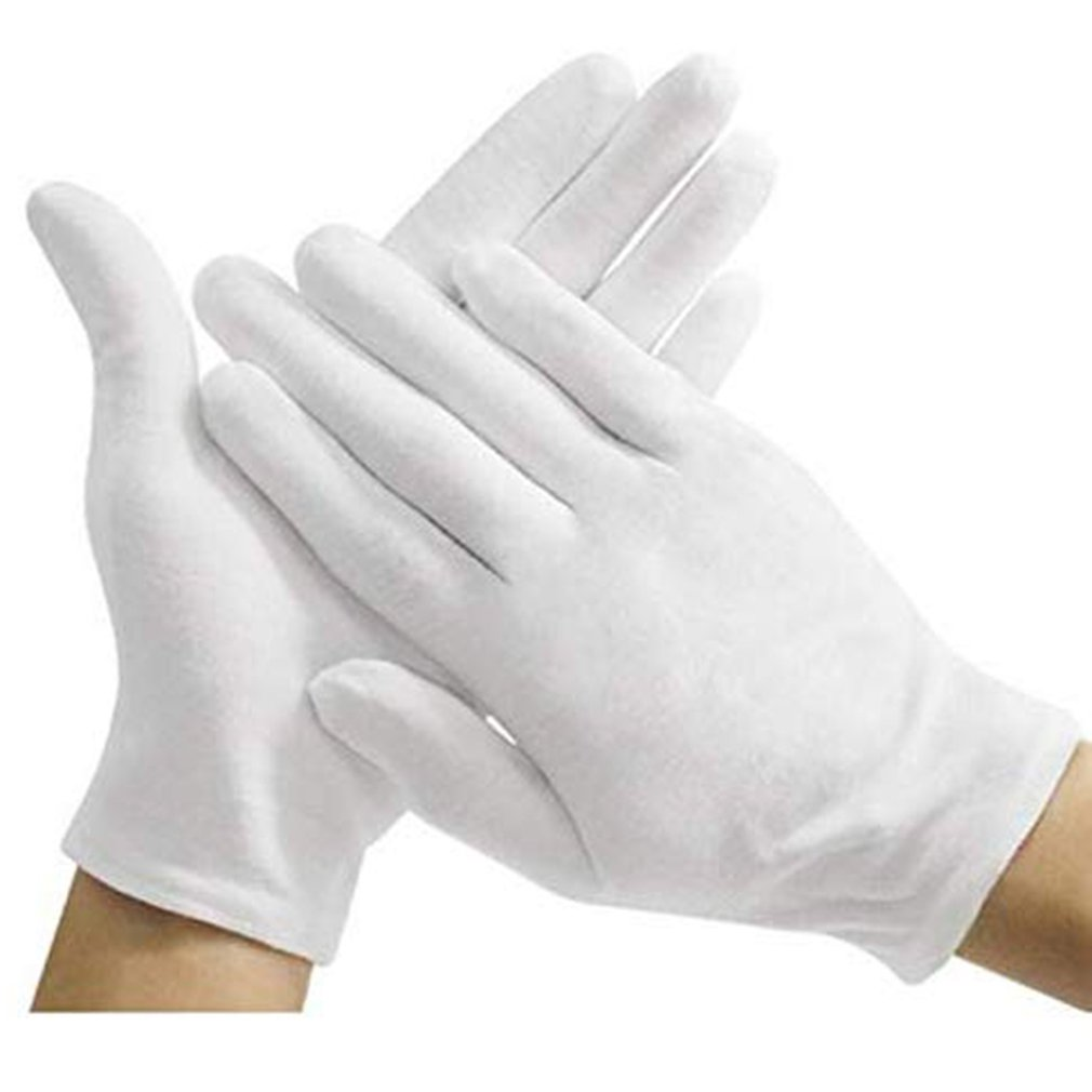 Anti-Sweat White Cotton Gloves In The Thick 12 Pairs Of One Loaded 607# Industrial Thick Cotton Gloves