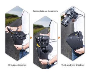 Image 5 - كاميرا حالة وقائية الحقيبة لنيكون D3500 D3400 D3300 D3200 D5600 D5500 D5300 D5200 D3100 D3000 مع 18 55 مللي متر عدسة