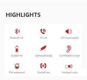 Image 2 - Mitvaz S21(A6 upgrade version)Bluetooth 5.0 Sports Running Headphones Portable Wireless Earphones gift case