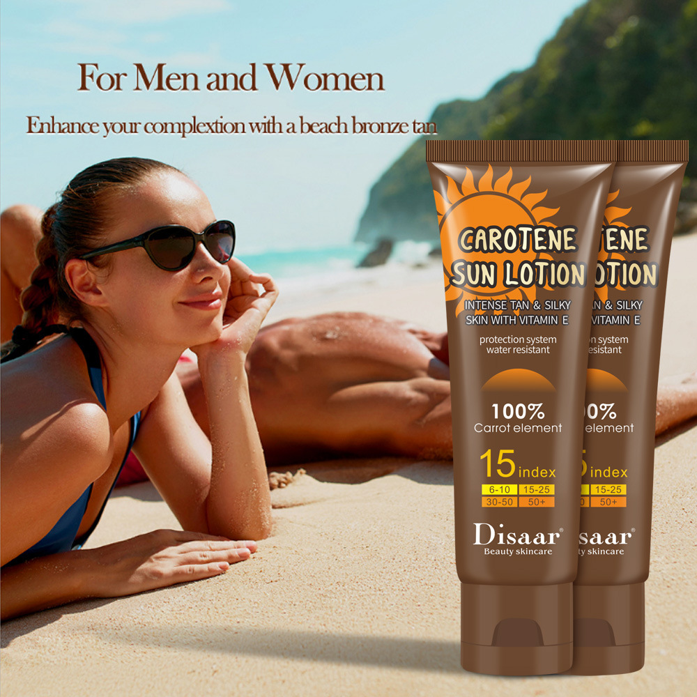 Carotene Sun Lotion Long Lasting Sunless Tanning Self Organic Self Tanner Bronze Fake Tan Body Lotion 80g