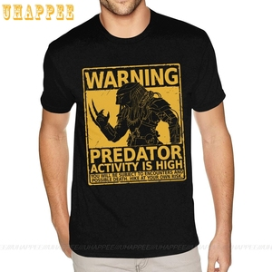 Oversized Hunting Season Warning Predator T Shirts Men Simple Fashion Short Sleeve Funny Harajuku t shirt 80S Vintage Apparel