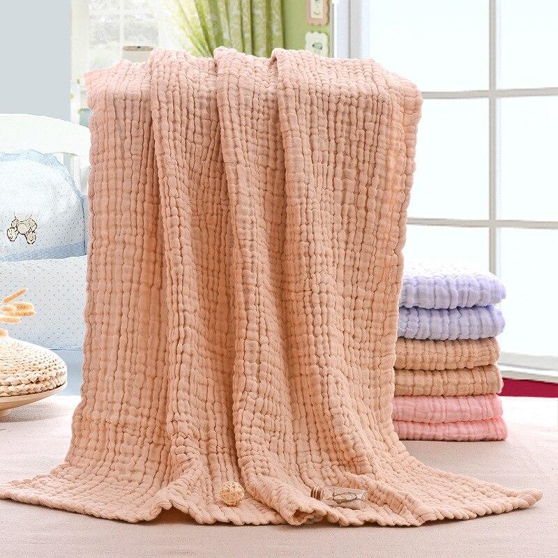 6 schichten Musselin Swaddle Baby Decken Neugeborenen Musselin Swaddle Baby Bettwäsche Benutzerdefinierte Decke Kuvertüre Bebe Emmaillotage