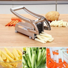 Stainless Steel Home French Fries Potato Chips Strip Slicer Cutter Chopper Chips Machine Making Tool Potato Cut Fries