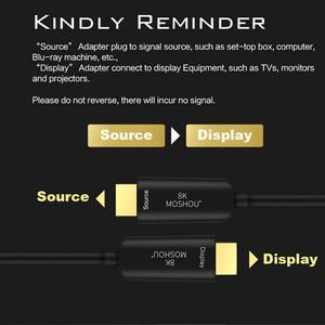 Image 4 - 光ファイバ HDMI 2.1 ケーブル超 HD (UHD) 8 18K ケーブル 120 2.4ghz 48Gbs とオーディオ & イーサネット HDMI コード HDR 4:4:4 ロスレスケーブル