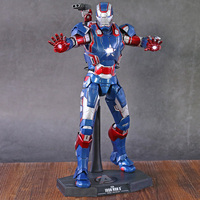 Avengers HC MMS195 Iron Man PVC Action Figure Toy Doll Christmas Gift with LED Light