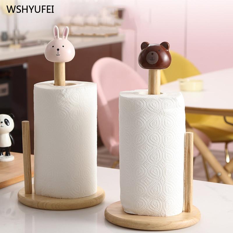 Image 3 - Cartoon paper towel rack kitchen table bathroom desktop creative cute vertical paper towel oil absorbing paper special framePaper Holders   -
