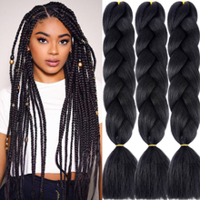LISI HAIR 24Inch Single Ombre Color Glowing For Hair Wholesale Synthetic Hair Extension