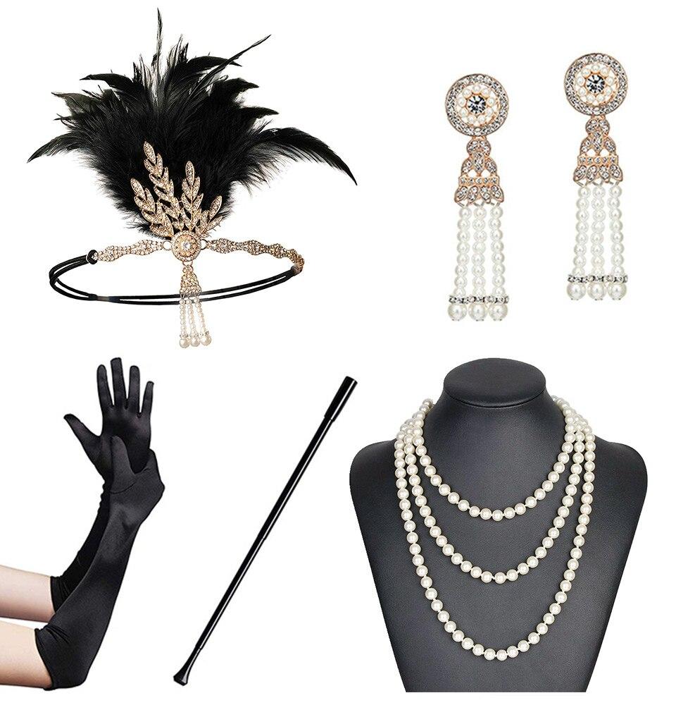 Обруч для волос 1920-х годов, обруч для волос, вечерние аксессуары для волос Great Gatsby