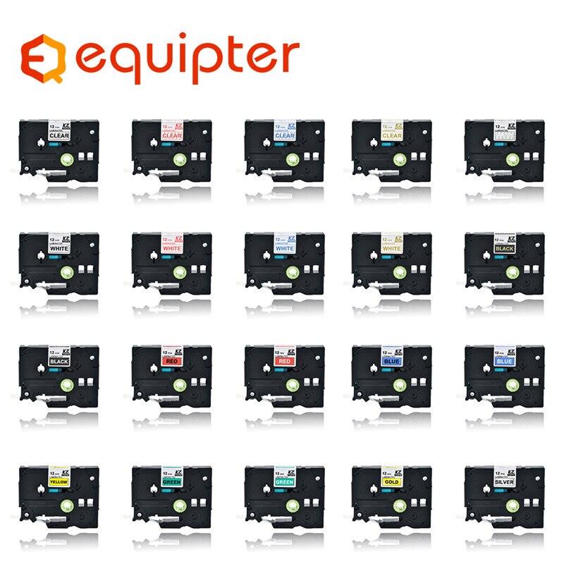 31 Kleur Tze Label Tape Compatibel Voor Brother P-Touch Printers Tze231 Tze-231 12 Mm Voor Brother P Touch tze Pt Labeler Tze231