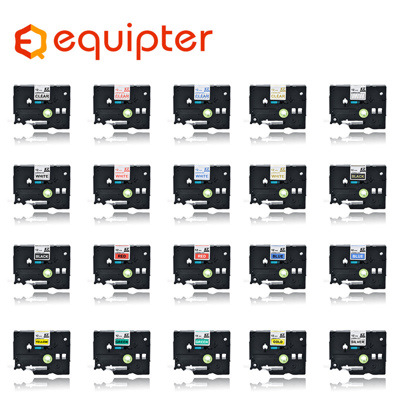 31 Color Tze Label Tape Compatible For Brother P-touch Printers Tze231 Tze-231 12mm For Brother P Touch Tze PT Labeler  Tze231
