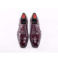 chue import Thailand crocodile manual Brush color leisure business men Leather soles Men's shoes