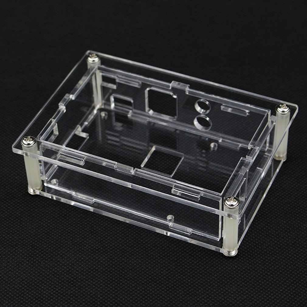 ラズベリーパイのための 4 モデル B アクリルケース透明シェル 3.5 インチの hdmi タッチスクリーンディスプレイエンクロージャ