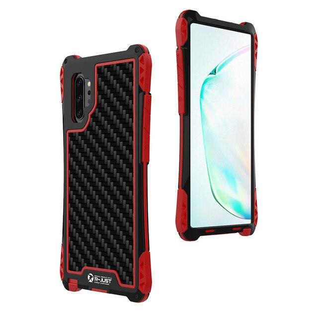 עמירה עמיד הלם היברידי עומס כבד מוקשח שריון מקרה Note10 S8 S9 S10 בתוספת S10 5G פחמן סיבי כיסוי