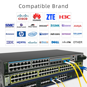 Image 4 - 5 çift 20KM Gigabit SM BIDI SFP modülü LC konektörü optik alıcı verici tek modlu Cisco ile uyumlu Fibra Ethernet anahtarı