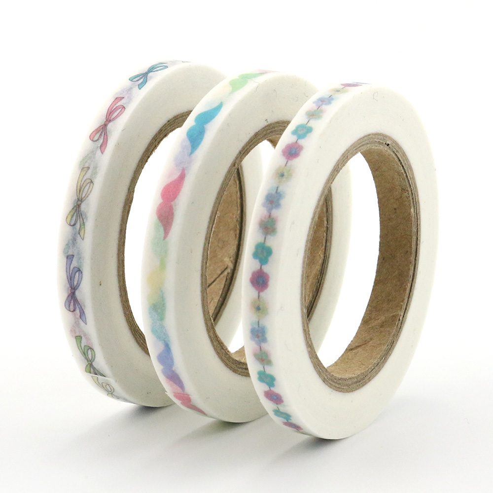 Купить с кэшбэком New 3pcs/set  slim washi tape 5mm*10m Split line masking foil tapes decoration Stickers Stationery school supplies