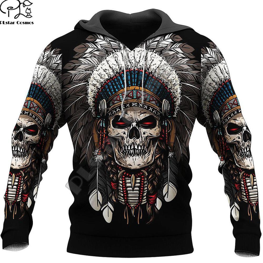 PLstar Cosmos Newest Ghost Gothic Skull Funny Harajuku Pullover NewFashion Streetwear 3DPrint Zip/Hoodies/Sweatshirts/Jacket S12