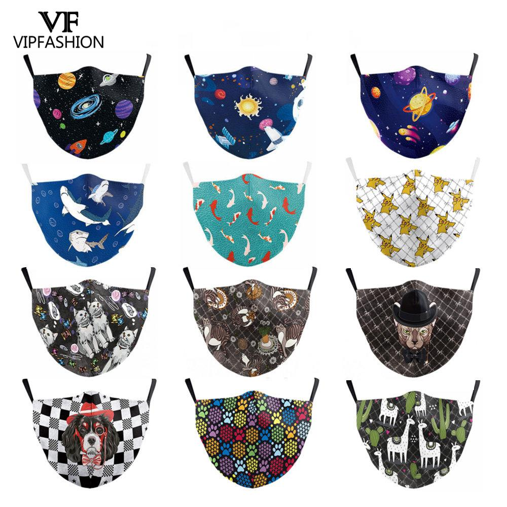 VIP FASHION Reusable PM2.5 Children Mouth Mask Cute Cartoon Print Face Anti Dust Pollution Mask For 3-10 Years Old Mouth Mask
