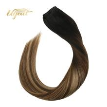 цена на Flip in Hair Extensions Brazilian Human Hair Extensions 12-22 Non-Remy Thick Full End Weft Hair 70-100G/Set Hair Halo Hair