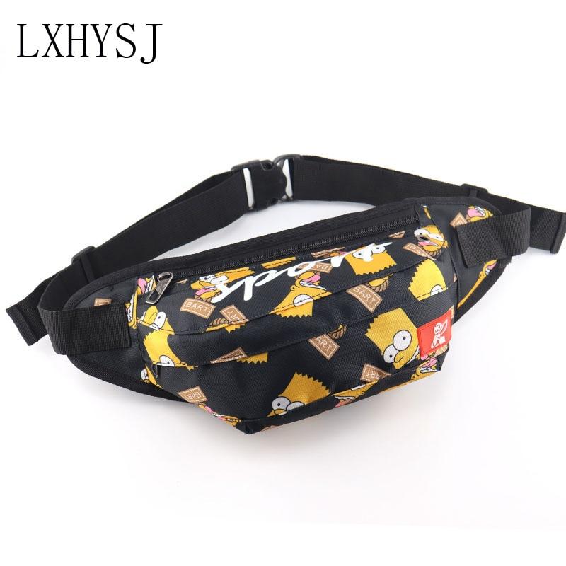 Waist Bag Unisex Fanny Pack Waist Packs Street Style Hip Hop Packs Chest Bag Banana Bags Large Capacity Fashion Men Belt Pack