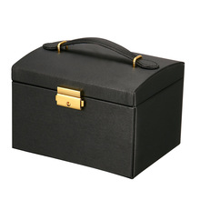 Three Layers 2020 Classical High Quality Leather Jewelry Box Jewelry Exquisite Makeup Case Jewelry Organizer Fashion Gift Box