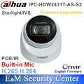 Original Dahua English Starlight IPC-HDW2431T-AS-S2 Replace IPC-HDW4433C-A 4MP IP POE IVS WDR IR Eyeball Network Camera