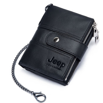 100% Genuine Leather Rfid Wallet Men Crazy Horse Wallets Coin Purse Short Male Money Bag Mini Walet High Quality Boys 26