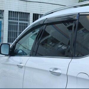 Image 2 - Para ford Mondeo13 18Window viseira escudo de chuva do carro toldo guarnição capa janela lateral defletor porta chuva sun shield lado janelas cobrir