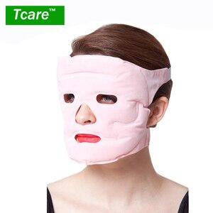 Image 1 - Tcare 1pcs Beauty Face lift Mask Tourmaline Magnetic Therapy Massage Face Mask Moisturizing Whitening Face Masks Health Care