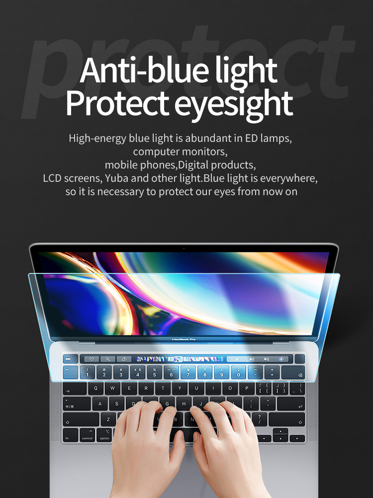 KPAN Anti-blue Light HD 9H 0.2mm Flexible Glass Film for new macbook pro15 <font><b>screen</b></font> protector A1707 <font><b>A1990</b></font> notebook protect image