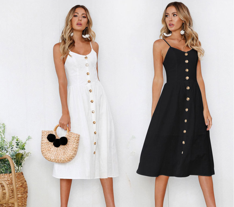 2019 New Women Print Floral Stripe Long Dress Sexy V-Neck Sleevele Button Beach Casual Boho Midi Dress Plus Size 3XL Vestidos