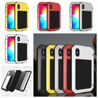 Aluminum Metal Waterproof Armor Case for iPhone 6 6S 7 8 Plus X XS XR XS Max Shockproof Full Body with Tempered Glass Cover