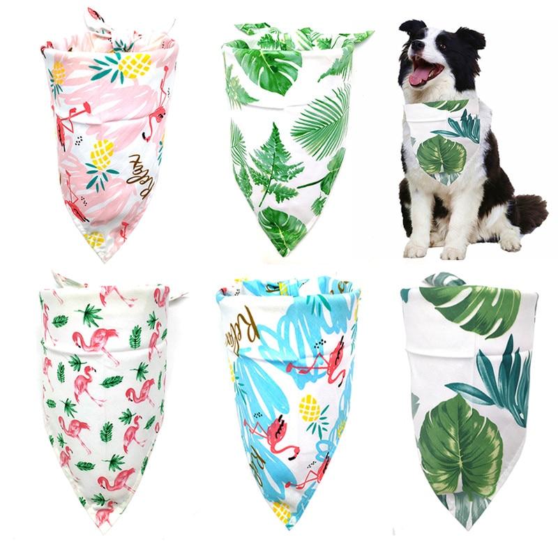 New Design Dog Cat Bandana Bibs Tropical Rainforest Style Cute Puppy Dog Scarf Adjustable Personalized Dog Bandanas Pet Supplier