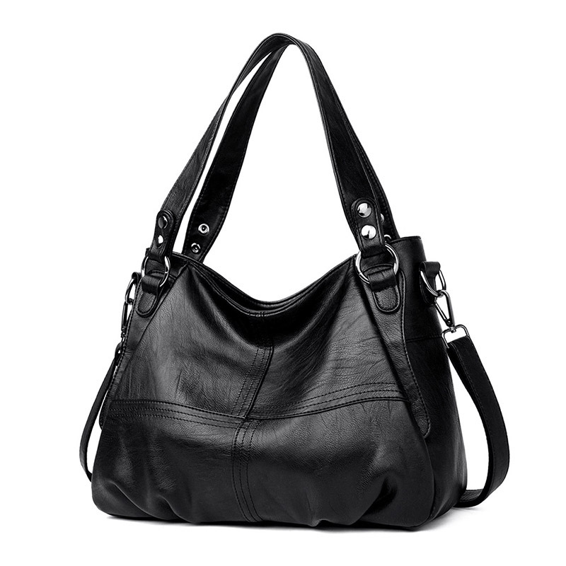 Image 2 - Womens Genuine Leather Handbag Large Leather Designer Big Tote  Bags for Women 2019 Luxury Shoulder Bag Famous Brand HandbagsShoulder  Bags