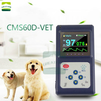 CMS60D VET Oximeter Pet Animal Veterinary Clip Intellectual Recording Measure Oxygen Pulse Rate and Saturation Vet Use with USB