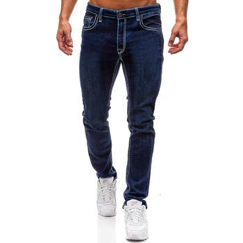 Skinny Jeans for Men Slim fit Fashion Fitness Mens Denim Trousers New arrival Blue Black