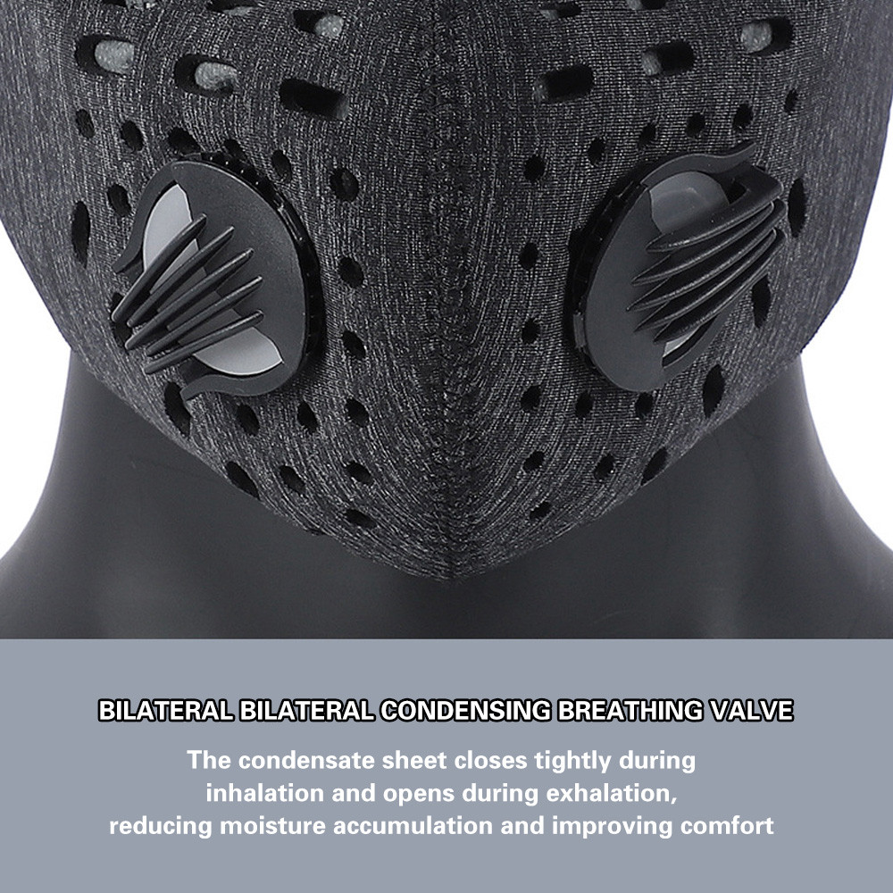 1-3pcs KN95 Cycling Face Mask Sport Training Mask PM2.5 Anti-pollution Running Mask Activated Carbon Filter Washable Mask