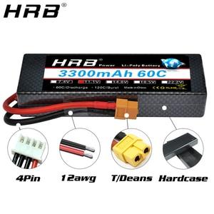 Image 2 - HRB 3300mah Hardcase Lipo Battery 2S 7.4V 3S 11.1V 4S 14.8V 5S 18.5V 6S 22.2V 60C T Deans XT60 Hard Case RC Airplanes Car Parts