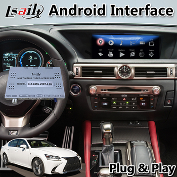 Lsailt android multimedia car video interface for Lexus GS450 GS200t GS Mouse Control 2016-2020 year gps navigation GS450 image