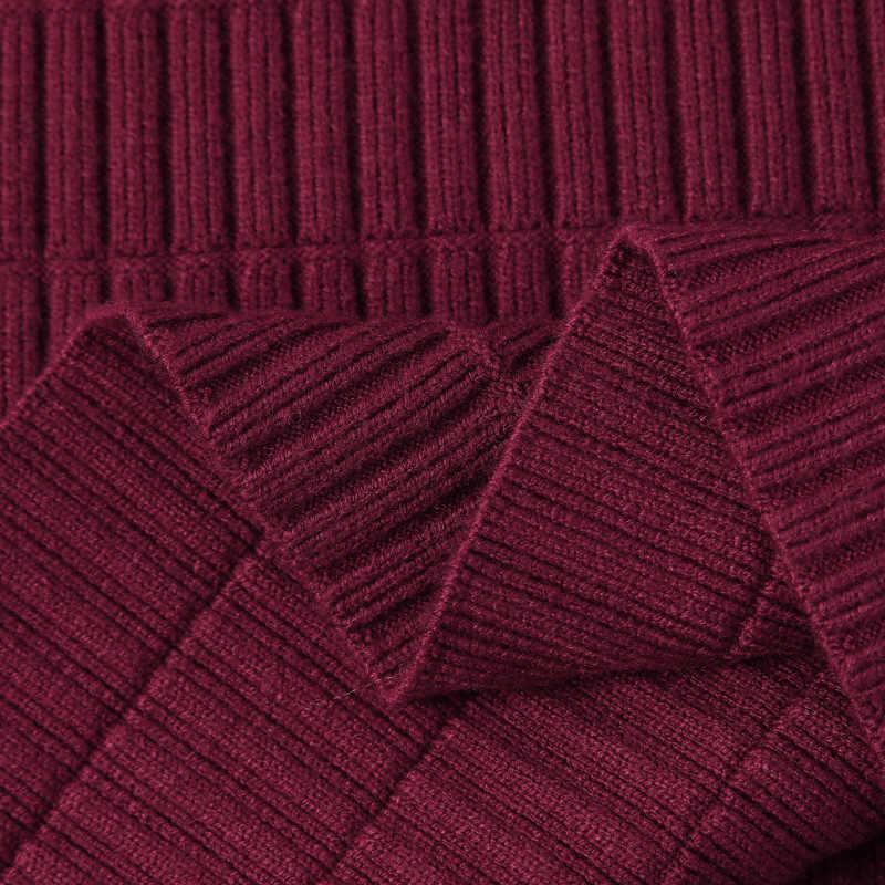 Herfst En Winter Afslanken Mid-lengte Hoge taille Dikke Gebreide Rok Garen Schede One-step Rok Dongguan wol Verwerking