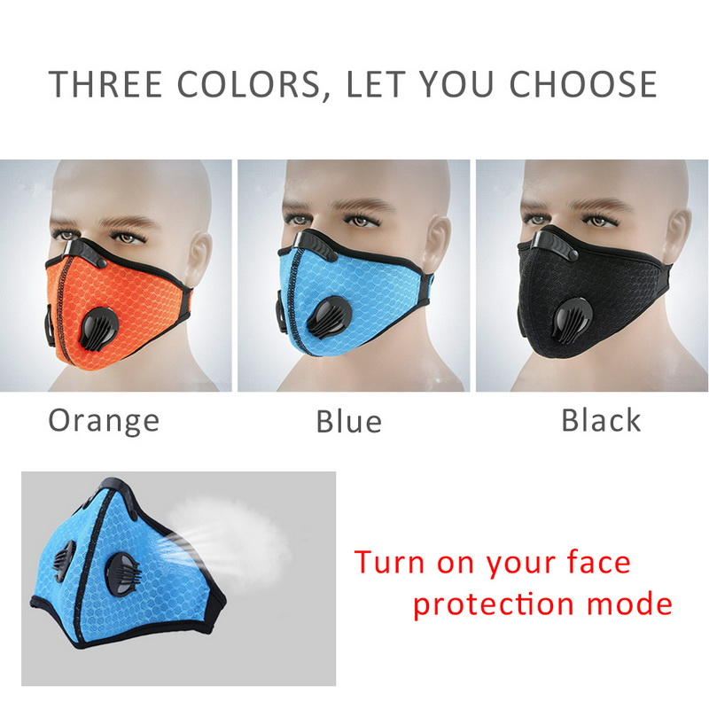 Filter Activated Carbon  2.5 Anti-Pollution Running With Cycling Mask KN95 Antiviral Coronavirus Sport Face Mask 2