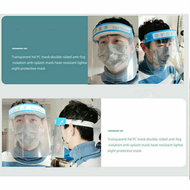 Anti Spitting Saliva Professional Clear Full-Face Shield Protection Transparent Protective Safty 4
