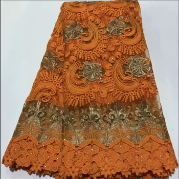 New African Lace Fabric 2020 Embroidered Nigerian Laces Fabric Bridal High end French Tulle Lace Fabric For Wedding Party