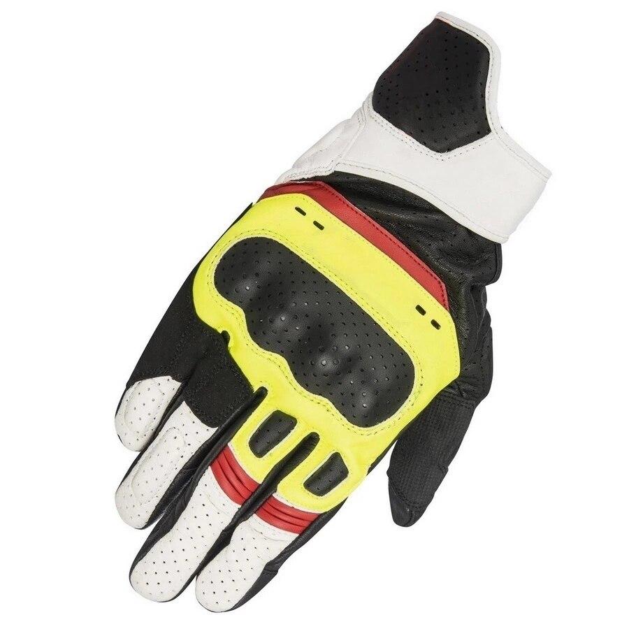 Lokomotywa motoryzacja rower górski Motocross motocykl czarny biały żółty czerwony SP-5 rękawice skórzane