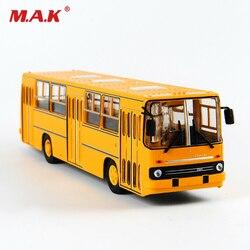 25cm 1/43 Rusia Icarus modelo de autobús de dos pisos coche de juguete ruso Diecasttoys para niños IKARUS-260 juguetes amarillos para niños