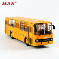 25cm 1/43 Russia Icarus Bus Model Double decker Car Soviet Toy Diecasttoys for children IKARUS 260 Yellow kids toys