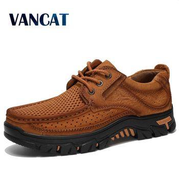 2020 nowo męskie letnie mokasyny buty prawdziwej skóry przyczynowe męskie buty odkryty skóry wołowej buty do jazdy samochodem buty łodzi rozmiar 38-48 tanie i dobre opinie Vancat CN (pochodzenie) Skóra bydlęca RUBBER YH032377-10 Lace-up Pasuje prawda na wymiar weź swój normalny rozmiar