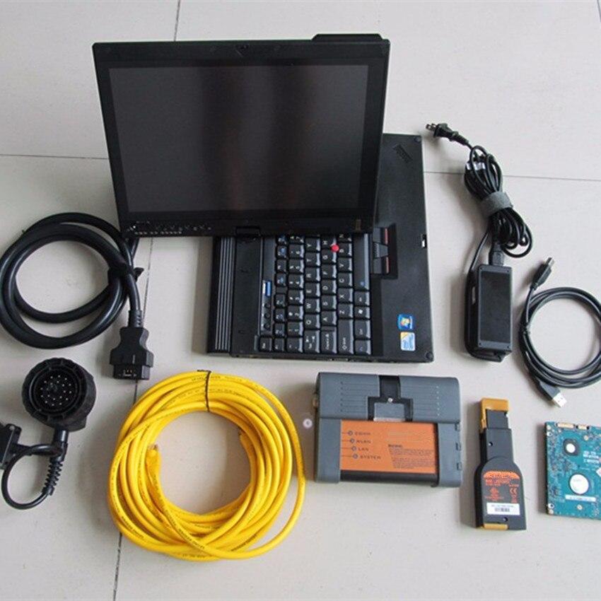 Obd2 Диагностический Инструмент Профессиональный для BMW icom a2 b c с программным обеспечением 500gb hdd ISTA экспертный режим с ноутбуком x200t 4g готов к